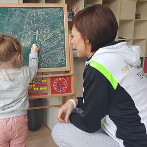 Betreuung eines Kindes beim Sport